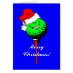 Golf del navidad tarjetas