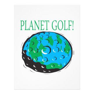 Golf del planeta flyer personalizado