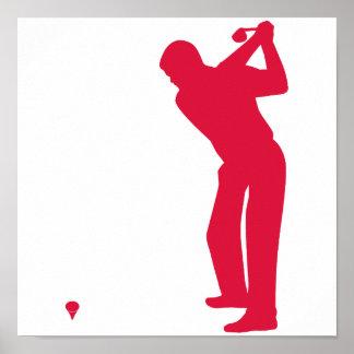 Golf del rojo carmesí póster