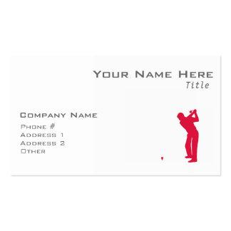 Golf del rojo carmesí plantillas de tarjetas de visita