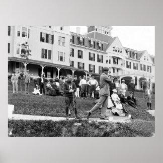 Golf del vintage, 1890s póster