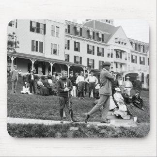 Golf del vintage, 1890s tapete de ratones