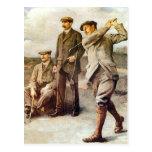 Golf del vintage postal