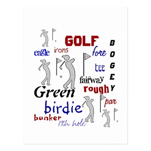 Golf, deporte, de motivación postal