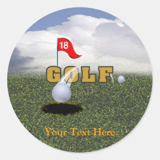 Golf Design #2 Classic Round Sticker