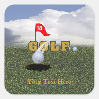 Golf Design #2 Square Sticker