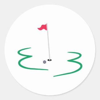 Golf Design Classic Round Sticker