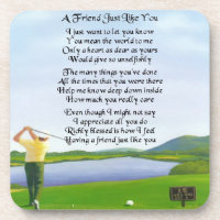 Golf Design : Friend Poem Coaster
