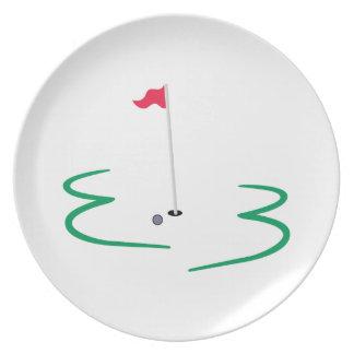 Golf Design Melamine Plate