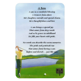 Golf Design - Son poem Magnet