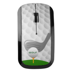 Golf Design Wireless Mouse at Zazzle