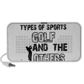 Golf designs for lovers of the sport laptop speakers