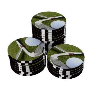 Golf Designs Set Of Poker Chips