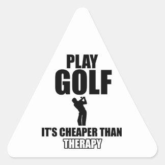 Golf designs triangle sticker
