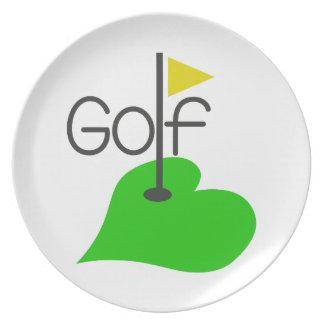 Golf Dinner Plate