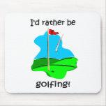 Golf divertido alfombrilla de ratones