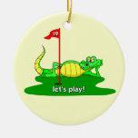 golf divertido ornamento para arbol de navidad