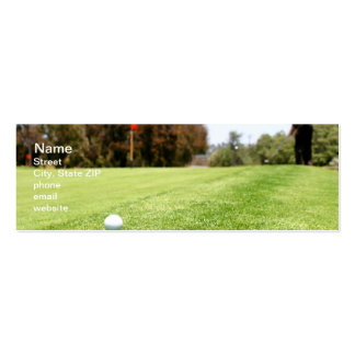 Golf Double-Sided Mini Business Cards (Pack Of 20)