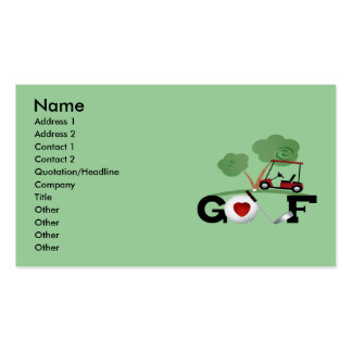 Golf Double-Sided Standard Business Cards (Pack Of 100)