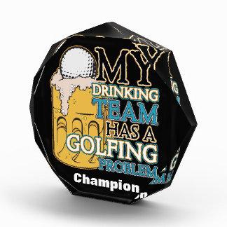 Golf Drinking Team Acrylic Award