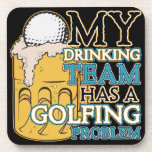 Golf Drinking Team Beverage Coaster