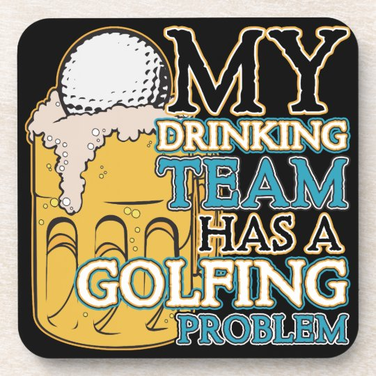 Golf Drinking Team Beverage Coaster