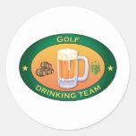 Golf Drinking Team Classic Round Sticker
