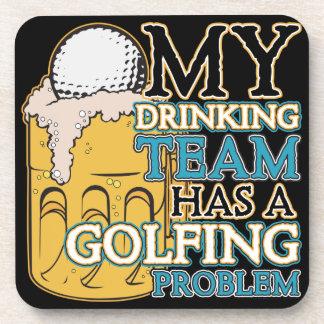 Golf Drinking Team Beverage Coasters