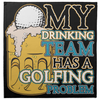Golf Drinking Team Napkin
