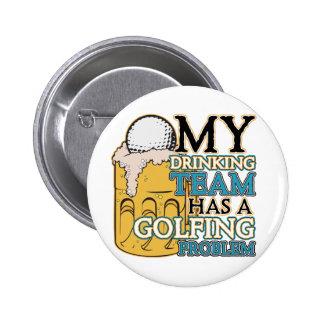 Golf Drinking Team Pinback Button