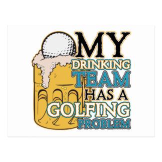 Golf Drinking Team Postcard