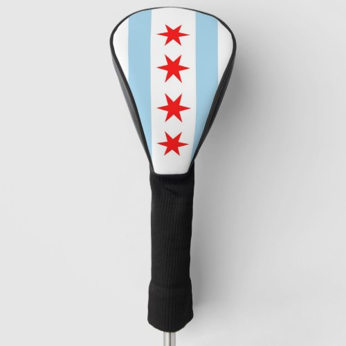 Golf Driver Cover with Flag of Chicago USA