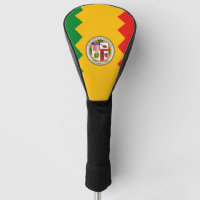 Golf Driver Cover with Flag of Los Angeles, USA