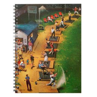 Golf Driving Range by John Falter Notebook
