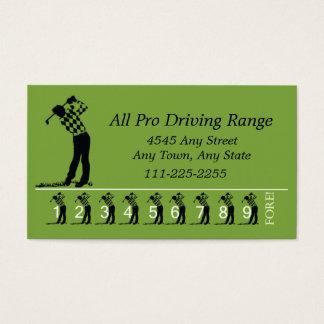 Golf Driving Range - Customer Loyalty Punch Card