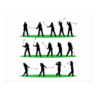 Golf Driving Sequence Postcard