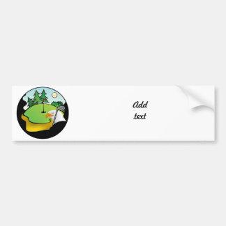 Golf Eagle Bumper Sticker