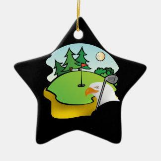 Golf Eagle Ceramic Ornament