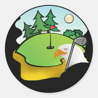 Golf Eagle Classic Round Sticker