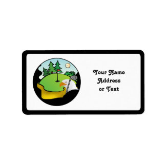 Golf Eagle Etiquetas De Dirección