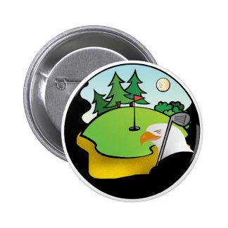 Golf Eagle Pin Redondo De 2 Pulgadas