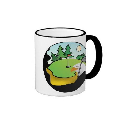 Golf Eagle Ringer Coffee Mug