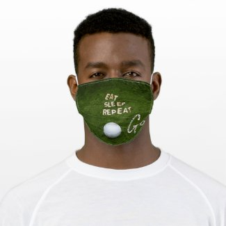 Golf Eat Sleep Golf Repeat face mask