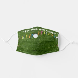 Golf Eat sleep golf repeat golfer Cloth Face Mask
