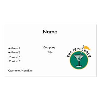 golf el diecinueveavo humor del tiempo de la bebid tarjeta personal