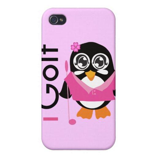 Golf el pingüino iPhone 4 carcasas