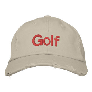 Golf Embroidered Baseball Hat
