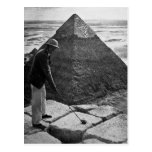 Golf en el vintage de la pirámide blanco y negro postal