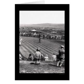 Golf en Escocia 1926 Tarjeta De Felicitación