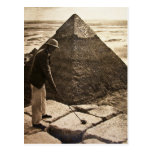 Golf en la sepia de la pirámide entonada tarjetas postales